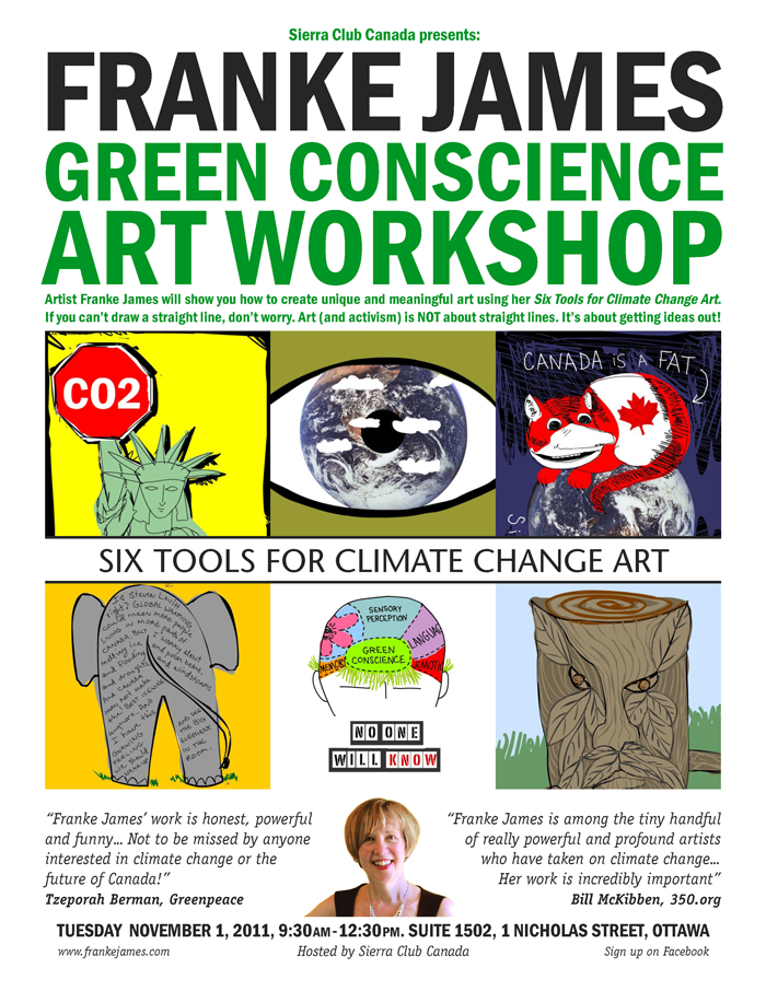 Green Conscience Art Workshop with Franke James